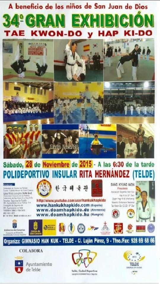 34 gran exhibici n de taekwondo y hapkido en telde for Gimnasio telde