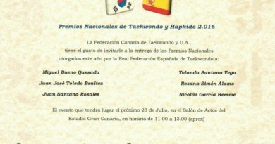 ENTREGA PREMIOS NACIONALES TAEKWONDO Y HAPKIDO