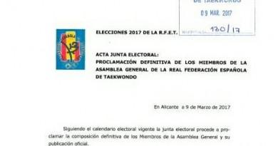 PROCLAMACIÓN DEFINITIVA MIEMBROS ASAMBLEA GENERAL RFET